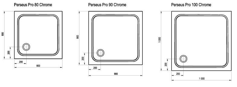 Receveur De Douche Perseus Pro Chrome Ravak