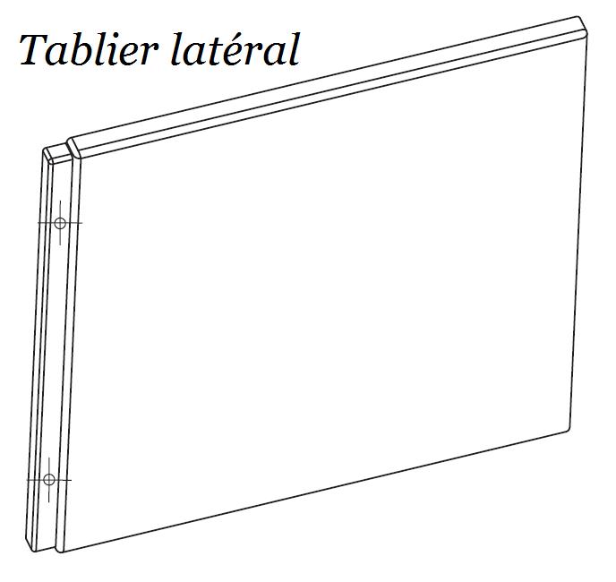 schéma tablier latéral chrome baignoire