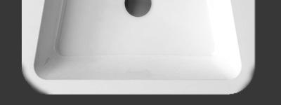 Lavabo design 10° résine marbre jeté 55 65 cm