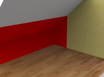 Espace sous pente pouvant accueillir un meuble sous pente sur mesure