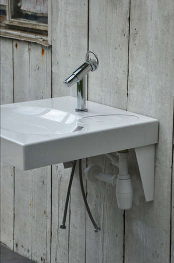 Lavabo gain de place sur machine laver - Machine a laver sous lavabo ...