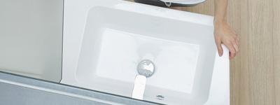 Lavabo d'angle avec meuble design
