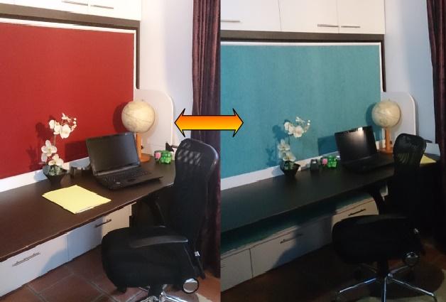 Changement de couleur du lit armoire bureau en changeant la toile