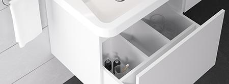 Meuble rangement sous lavabo grand espace 10°